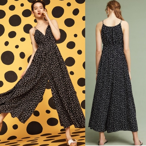 f985a69ca29f Anthropologie Pants - Anthropologie Maeve Finley polka dot jumpsuit
